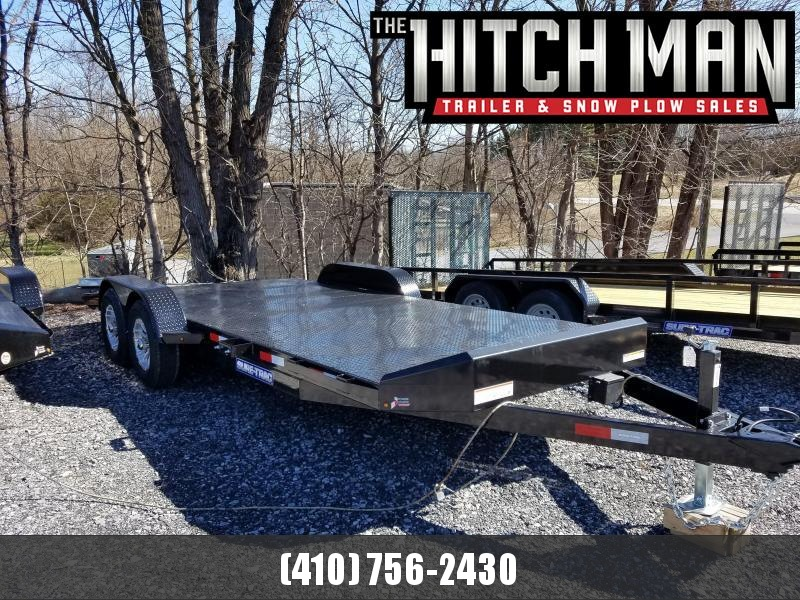 7 x 20 Sure Trac Steel Deck Car Hauler 10k