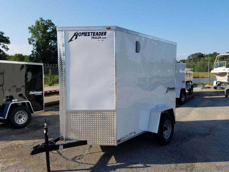 5 X 8 Homesteader Intrepid V-Nose Enclosed Cargo Trailer 3k