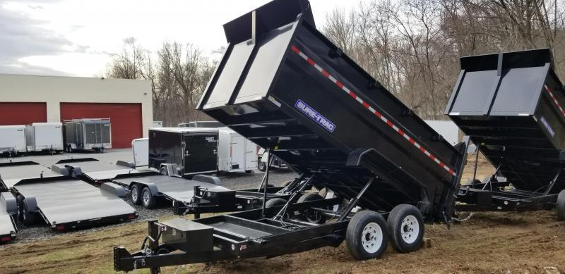 Sure-Trac 82in x 14 LProfile **4' High Sides Dual Ram Dump 14k