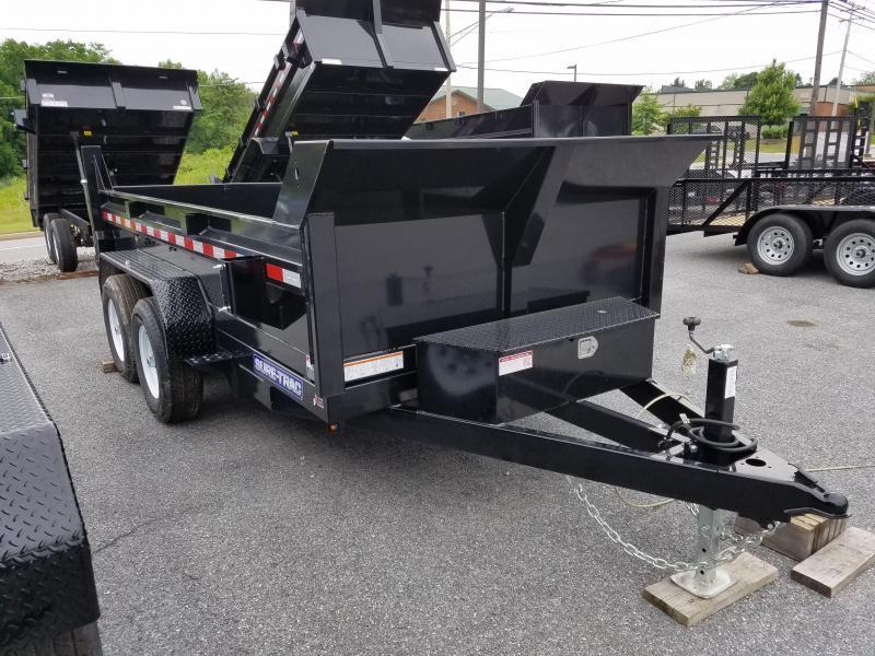 6 x 12 Sure-Trac SD Low-Profile Dump Trailer 10k