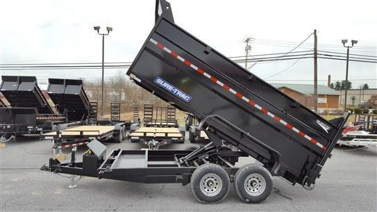 82 x 14 Sure-Trac 4' High Side Scissor Hoist Dump 14k