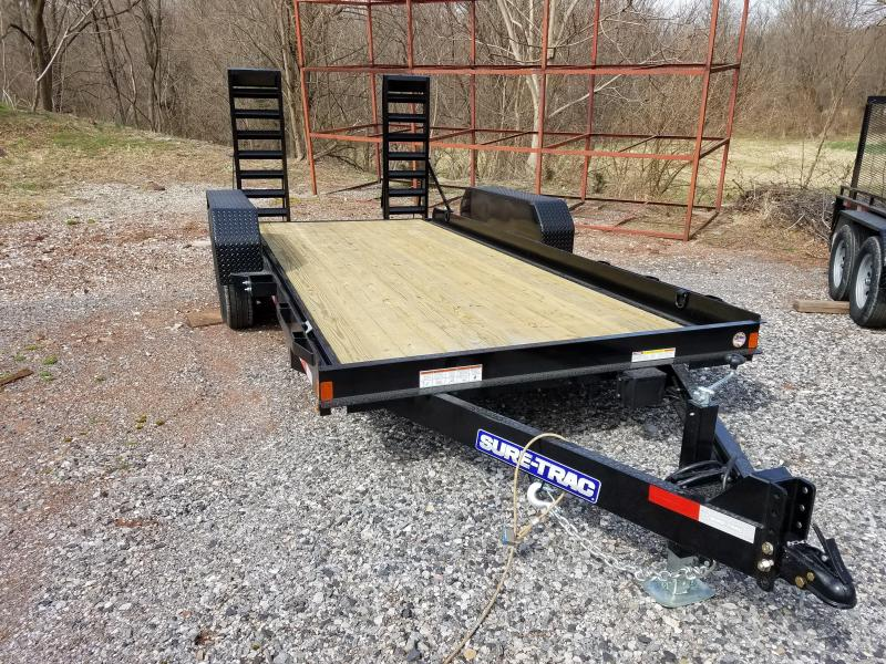 7 x 16 Sure-Trac Skid Steer Equipment Trailer 14K