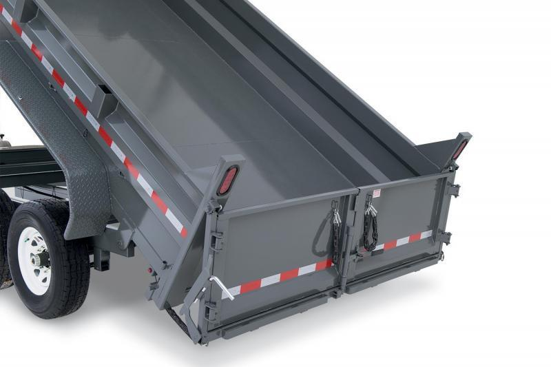 7 x 12 Sure-Trac HD Low Profile Dual-Ram Dump Trailer 12k