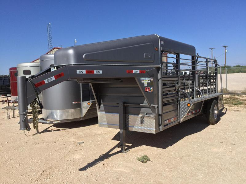2019 6x16 GR Trailers Gooseneck Livestock Cattle Trailer