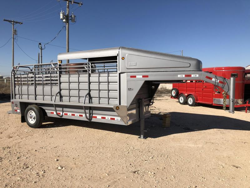 2019 5x16 GR Trailers Gooseneck Livestock Cattle Trailer
