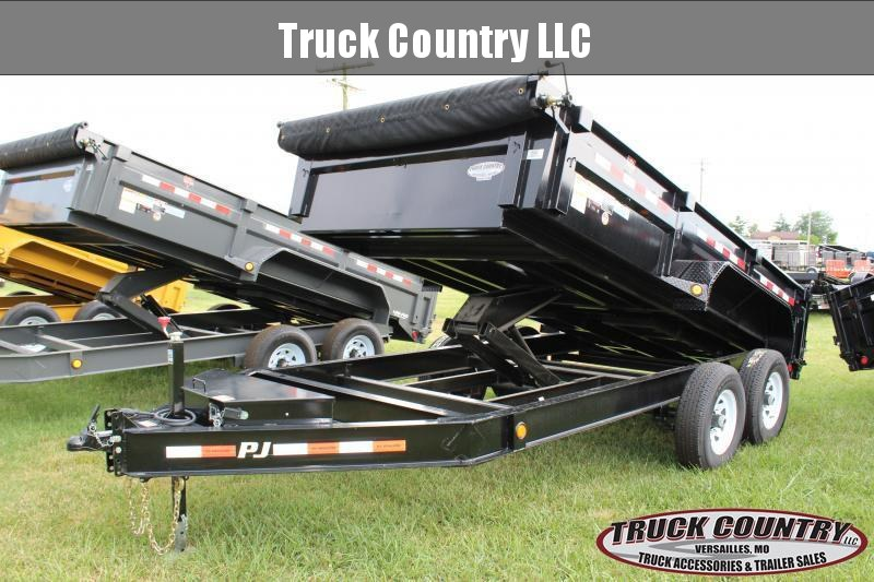 2019 PJ Trailers DL 14 Lo-Pro Dump Trailer in Bourbon, MO