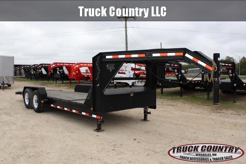 2011 PJ Trailers 20' gooseneck tilt Equipment Trailer