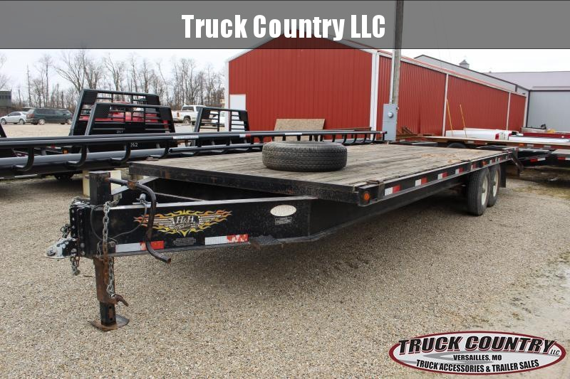 2005 H&H Trailer 24' deckover Flatbed Trailer