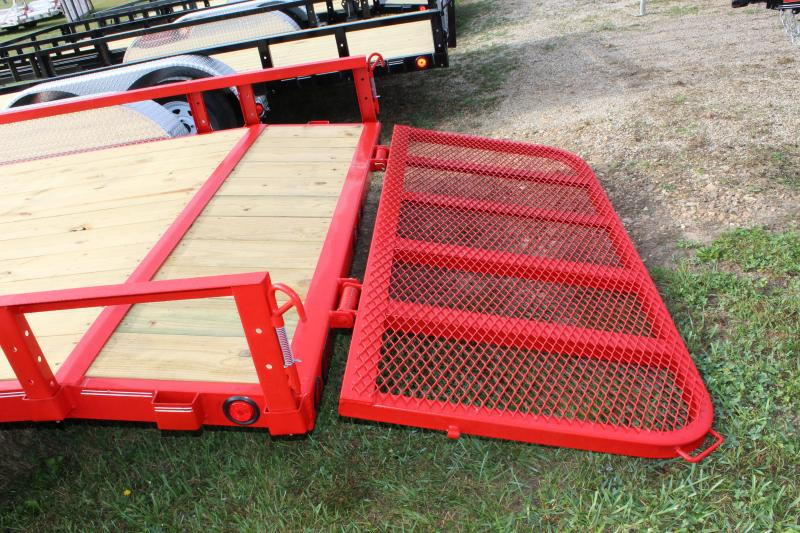 "2019 PJ Trailers UL 83""x16' red Utility Trailer"