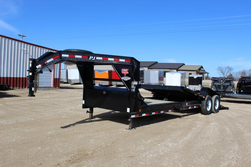 2019 PJ Trailers TJ 24' gooseneck tilt Equipment Trailer