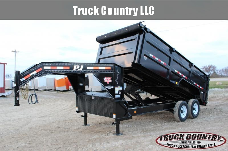2019 PJ Trailers DM 16' high side gooseneck dump Dump Trailer