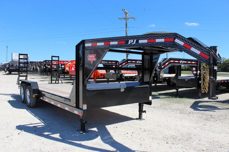 2019 PJ Trailers CC 20' gooseneck Equipment Trailer