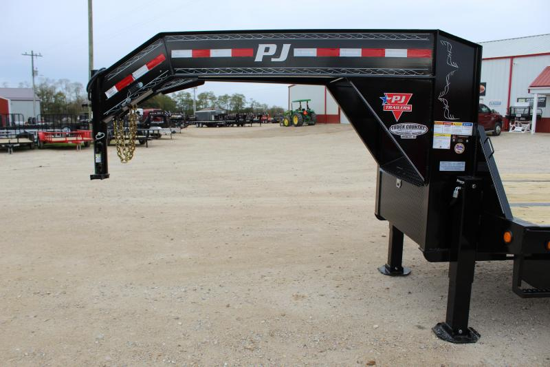 2019 PJ Trailers LY 34' lo-pro hydraulic dovetail gooseneck Flatbed Trailer