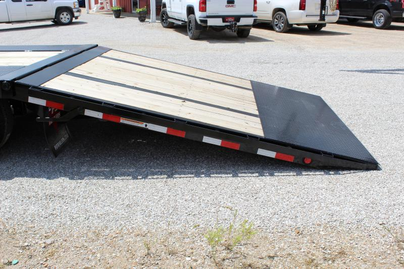 2020 PJ Trailers LY 34 Hydraulic dovetail Equipment Trailer