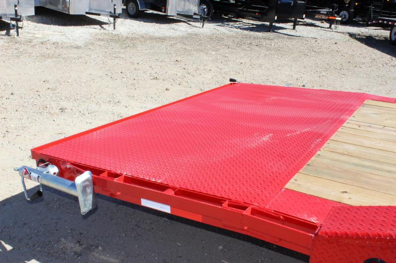 2019 PJ Trailers B6 24' GN superwide drive over fenders Equipment Trailer
