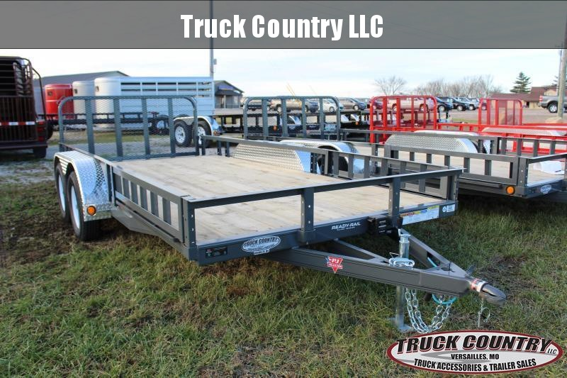 "2019 PJ Trailers UL 83""x16' grey Utility Trailer"