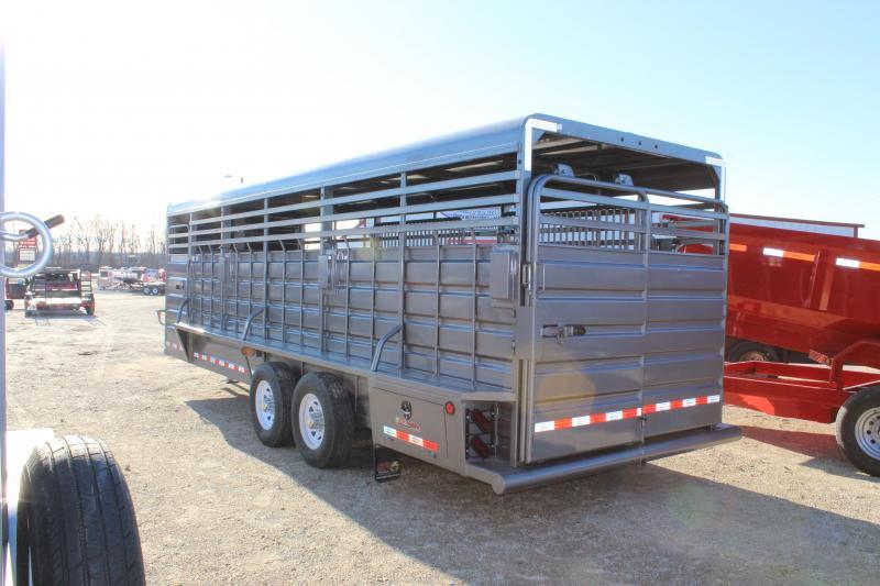 2018 GR Trailers 6.8x24 gooseneck Livestock Trailer