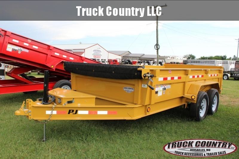 2019 PJ Trailers DL 14' Lo-Pro Dump Trailer in Bourbon, MO