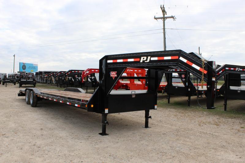 2019 PJ Trailers H7 32' gooseneck superwide Equipment Trailer