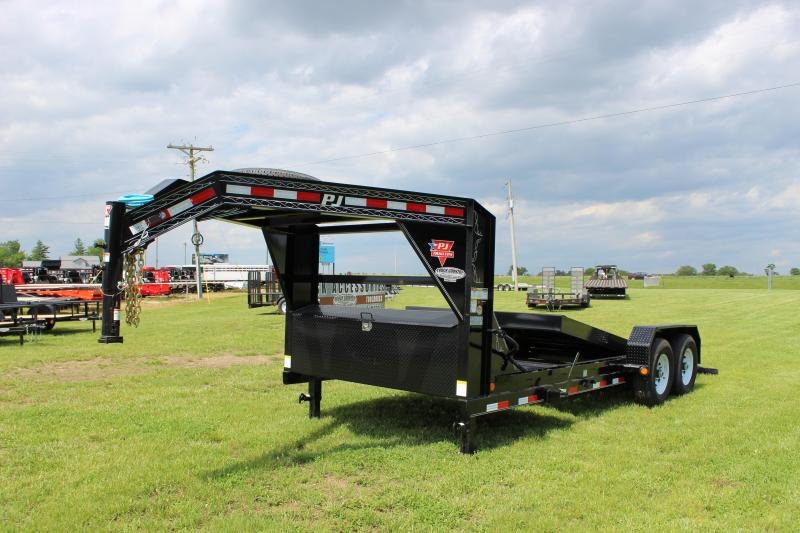 2020 PJ Trailers T6 20 gooseneck tilt Equipment Trailer