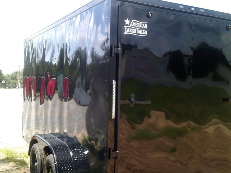 7'X14' DOUBLE AXLE BLACK-OUT