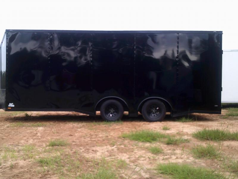 8.5'X20' DOUBLE TORSION  SPREAD AXLE BLACK/BLACKOUT CAR-HAULER