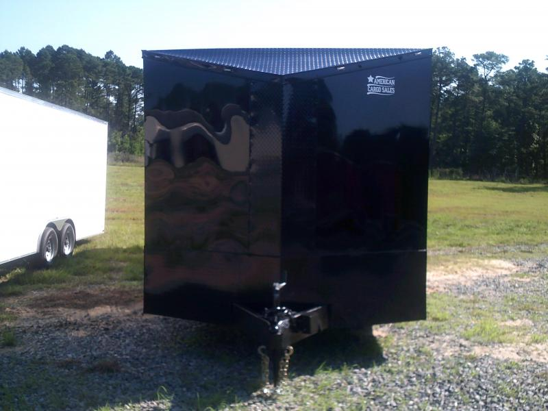 8.5'X28' DOUBLE AXLE BLACK-OUT RACE TRAILER