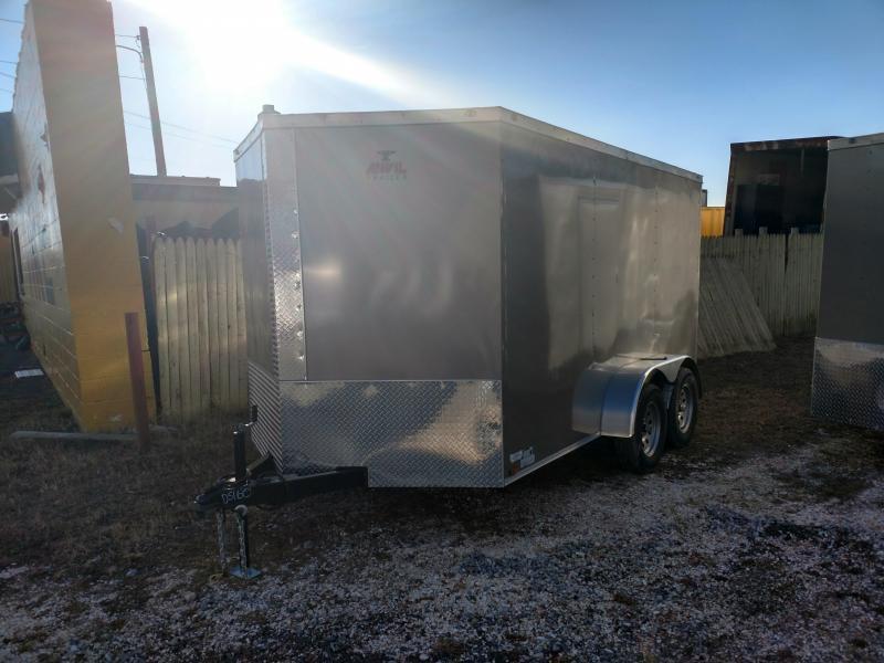 2017 Anvil 7 x 14 Pewter Enclosed Cargo Trailer