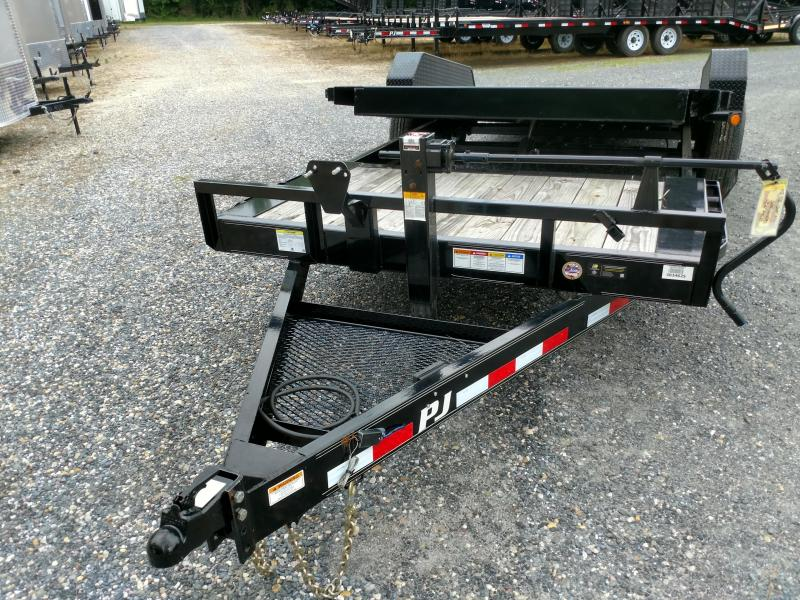 2019 PJ Trailers TJ 20 14k Partial Tilt w/ 2-Speed Jack Equipment Trailer