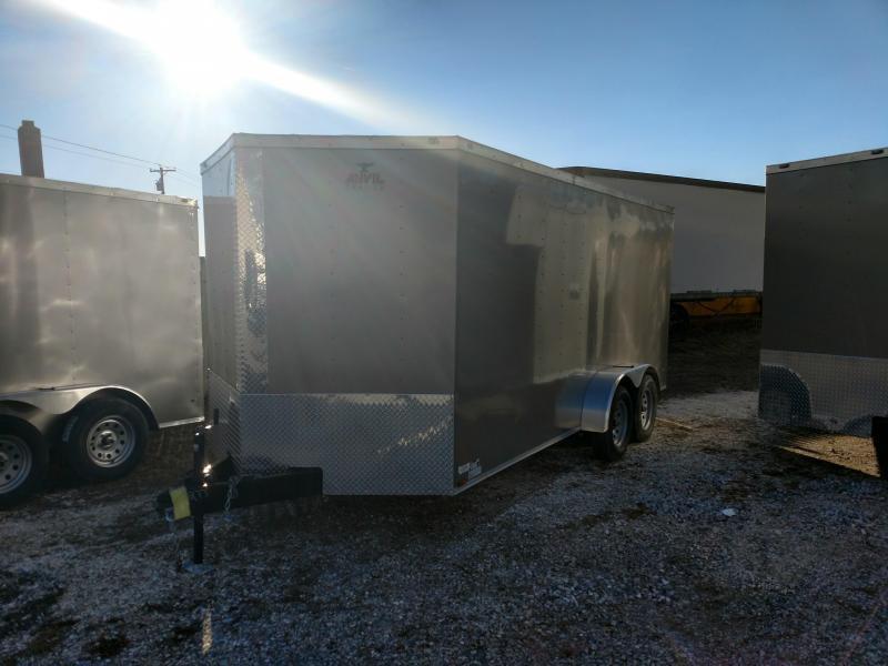 2017 Anvil 7 x 16 Pewter Enclosed Cargo Trailer
