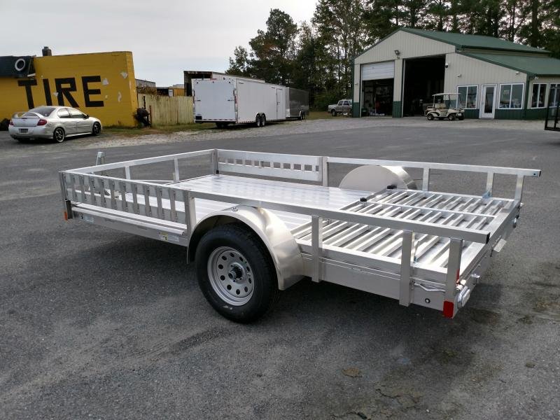 2019 Aluminum Trailer Company 80x12 Single Axle w/ ATV Ramps Utility Trailer