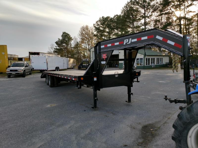 2019 PJ Trailers 32 Goose Neck 25K GVW Deckover Flatbed Trailer