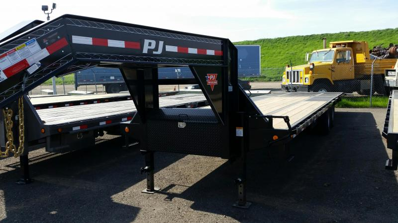 2018 PJ Trailers Low-Pro with Hydraulic Dove (LY) Equipment Trailer