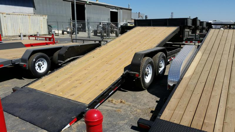 2017 PJ Trailers Powered Full Tilt (TF) Equipment Trailer