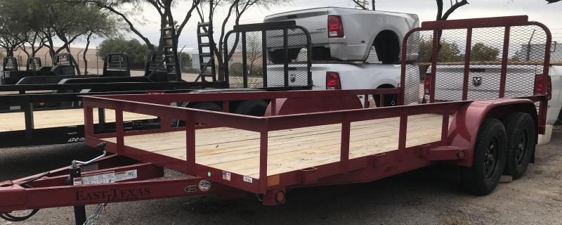 2018 East Texas 77x16 T/A Utility Trailer