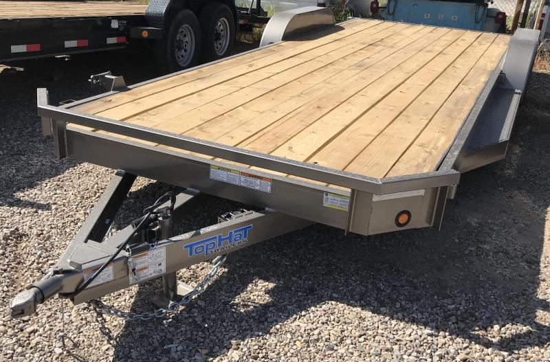 2018 Top Hat 83x22 DCH Flatbed Trailer