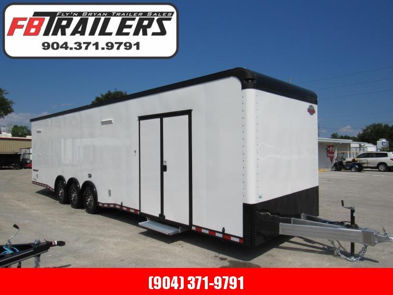 2020 Cargo Mate 34ft Blackout Trim Auminum Frame Car / Racing Trailer in Ashburn, VA