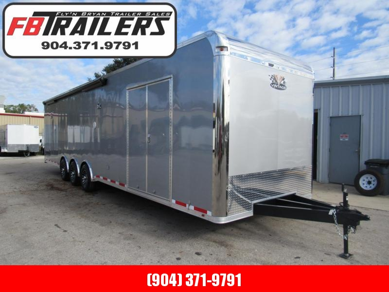 2019 34' Pro Stock Bath Package w/ A/C Elect Awning Race Trailer by Vintage Trailers in Ashburn, VA