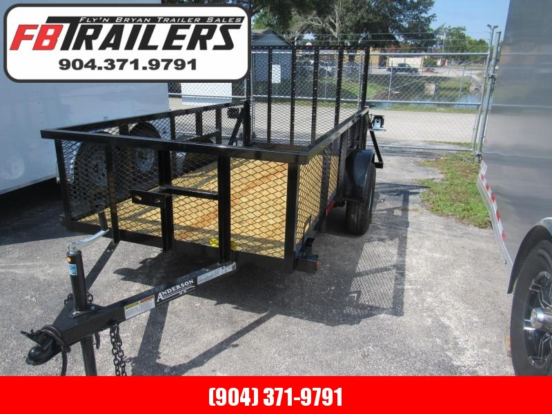 2020 Anderson Manufacturing 5x10 with 2ft Mesh Sides Utility Trailer
