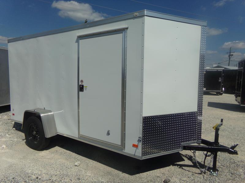 2018 Covered Wagon Trailers 6X12SA FREE 1-PEICE ROOF LEDS AND RADIALS Enclosed Cargo Trailer in Ashburn, VA