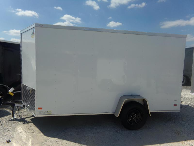 2018 Covered Wagon Trailers 6X12SA FREE 1-PEICE ROOF LEDS AND RADIALS Enclosed Cargo Trailer