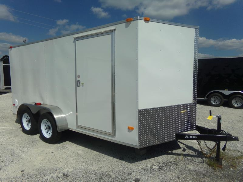 2018 Covered Wagon Trailers 7X14TA FREE 1 PEICE ROOF LED LIGHTS AND RADIALS Enclosed  Cargo