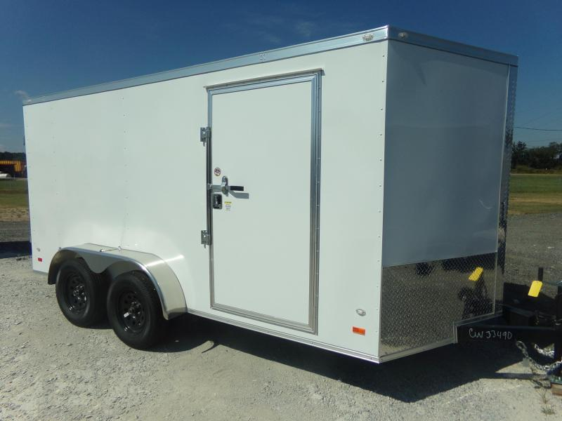 2018 7X14TA COVERED WAGON DOUBLE REAR DOORS Enclosed Cargo Trailer FREE ONE PEICE ROOF LEDS AND RADIALS