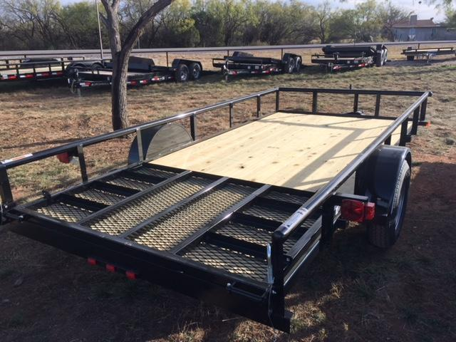 2018 Top Hat 77X14DSP Utility Trailer