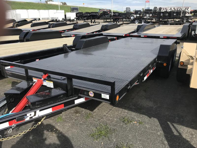 2019 PJ Trailers 20X83 Hydraulic Quick Tilt (TH) Equipment Trailer