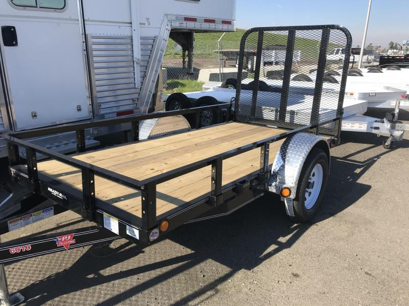 2019 PJ Trailers 10X60 Single Axle Channel Utility (U6) Utility Trailer