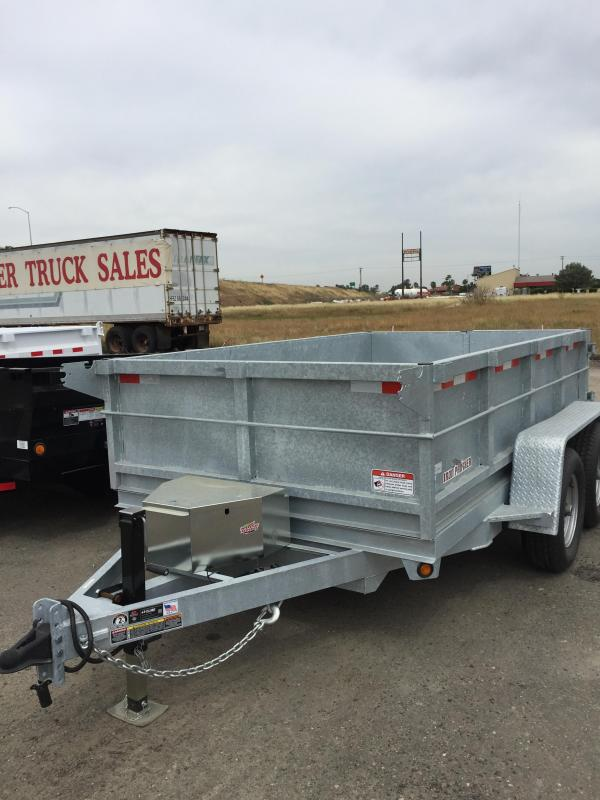 2016 Iron Panther D10LD Galvanized Dump Trailer 6.5x10'
