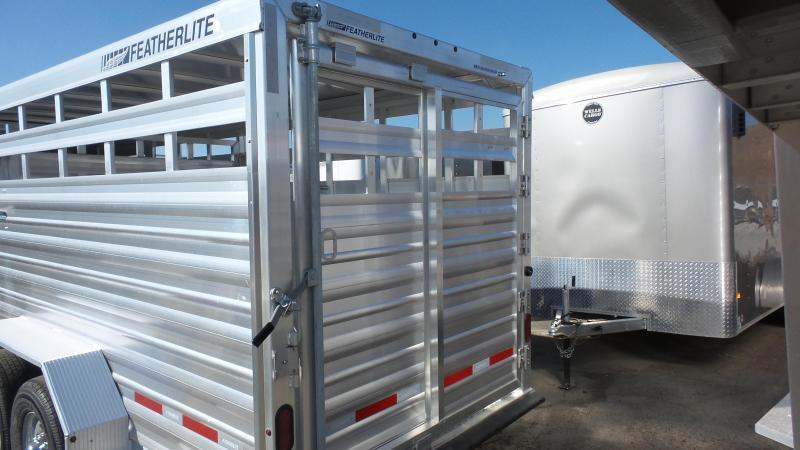 "2019 Featherlite 8117 6'7""X20'X6'6"" Base Livestock Trailer"