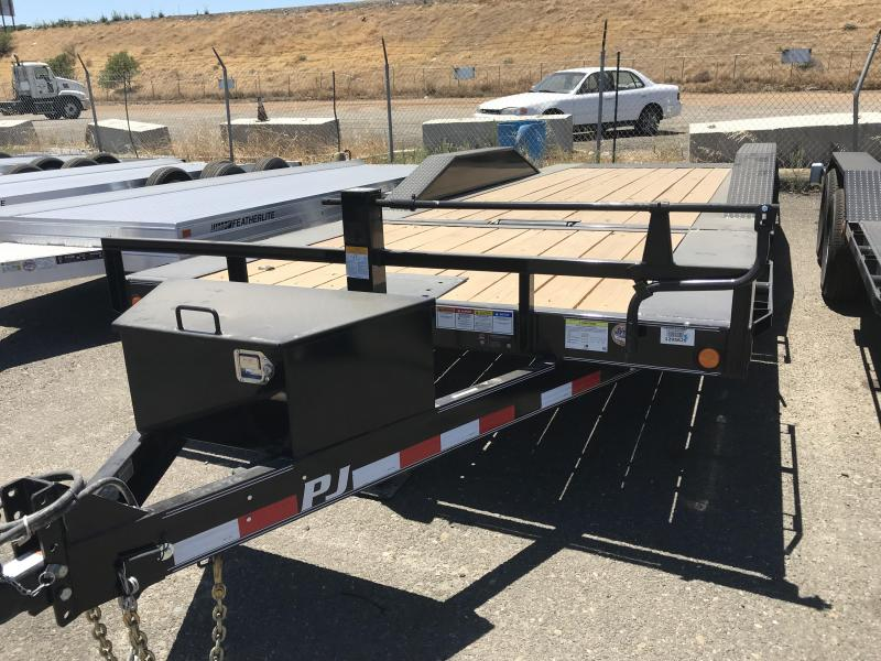 2019 PJ Trailers 22X6 Channel Super-Wide Tilt Trailer