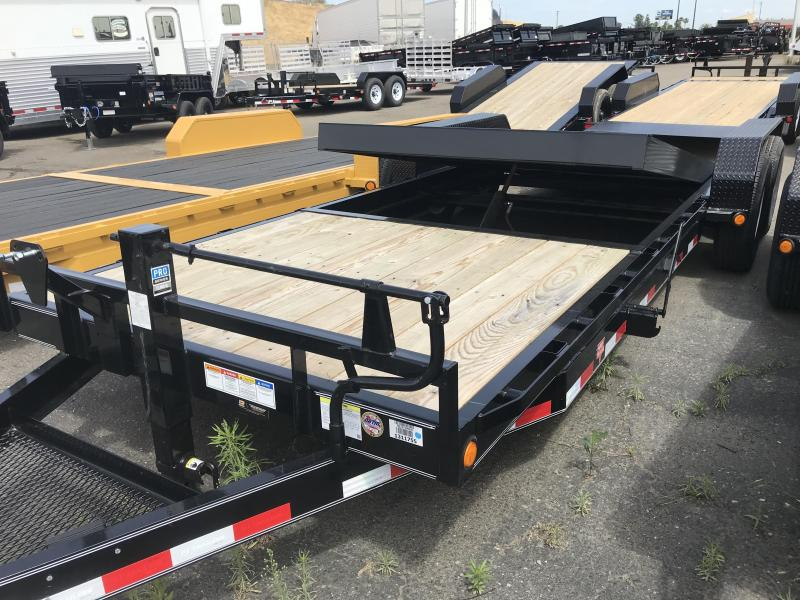 2019 PJ Trailers 22'X6 in. Channel Equipment Tilt (T6) Car / Racing Trailer